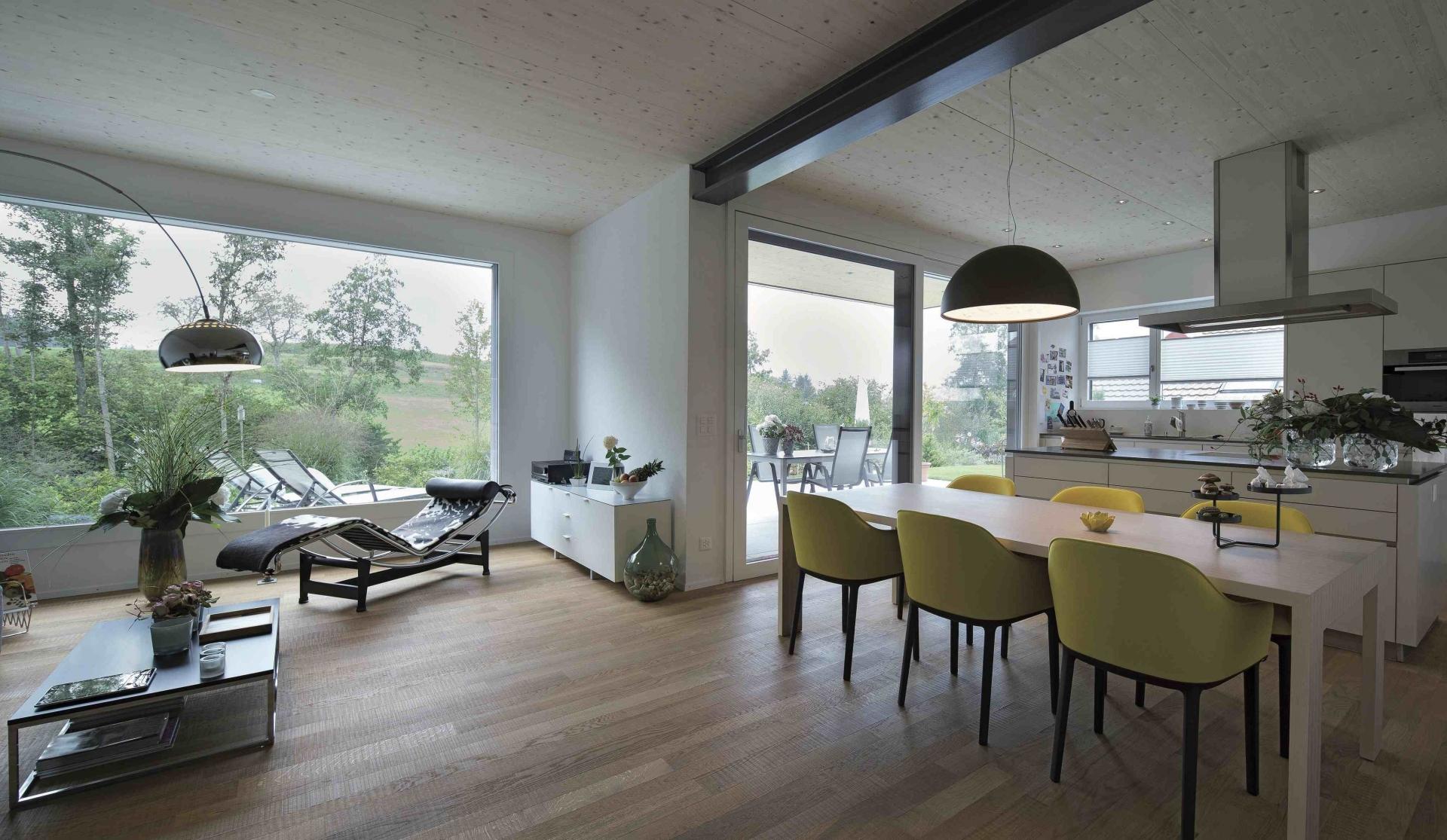 Das einfamilienhaus zwillingshaus im gr nen for Wohn und esszimmer 30m2